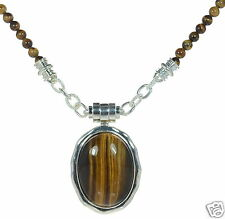 Joseph Esposito Solid 925 Sterling Tiger's-Eye Magnetic Necklace '