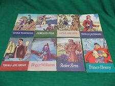 Lot of 8 Real People Series biographies. Children books. Vintage 1950-51