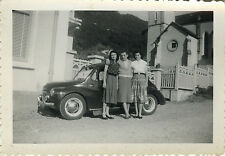 PHOTO ANCIENNE - VINTAGE SNAPSHOT - VOITURE AUTOMOBILE RENAULT 4CV MODE - CAR