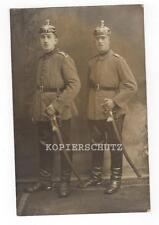 Original Portrait Foto Garde Artillerie / Pickelhaube / Säbel  1.WK