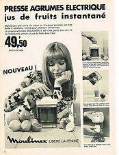 PUBLICITE ADVERTISING  1969   MOULINEX   presse agrumes
