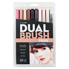 Tombow Dual Brush Pen Set, 10-Pack, Portrait Colors (56170)
