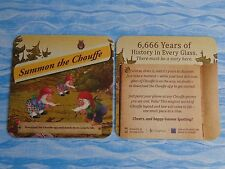 LA CHOUFFE Beer COASTER ~ 6,666 Years of History ~ Cheers, Happy GNOME Spotting!
