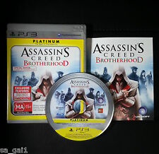 Assassins Creed Brotherhood Platinum (Sony PlayStation 3, 2010) PS3 - FREE Post