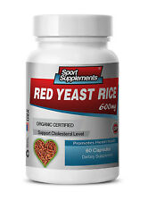 Red Yeast Rice Extract Tablets - Organic Red Yeast Rice 600mg - Heart Health 1B