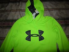 Brand New Misses Green & Black Under Armour Cold Gear Hoodie, M