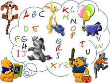 Grille point de croix ABC ALPHABET WINNIE L'OURSON