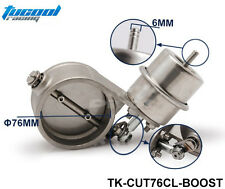 Stainless Steel Exhaust Control Valve Set Boost Actuator CLOSED Style 76mm Pipe