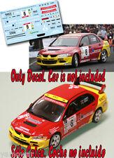 Decal 1:43 Samuel Lemes - MITSUBISHI LANCER EVO 8 - Rally Canarias 2005