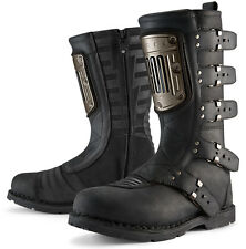 ICON 1000 ELSINORE HP Leather Motorcycle Boots (Black) US 11