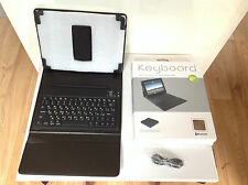 Boxed iPad Bluetooth Keyboard Case - Leather Lined. Excellent condition