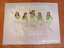 CRAYON POP - The Streets Go Disco [OFFICIAL] POSTER K-POP *NEW*