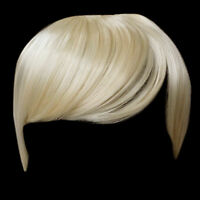 Fringe Bang Clip in on Hair Extensions STRAIGHT Lightest Blonde #60 Front
