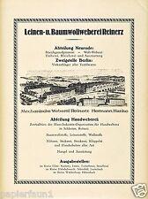 Weberei Bad Reinerz Duszniki Zdrój XL Reklame 1923 Neurode Nowa Ruda Werbung Ad