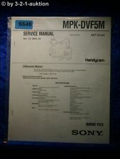 Sony Service Manual MPK DVF5M Marine Pack (#6646)