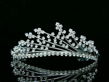 Bridal Wedding Rhinestone Crystal Crown Tiara 8411