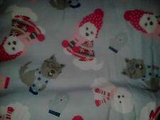 1 YD Terriers in the Snow Puppies! Dog Fabric - 100% Cotton Flannel and Cute!