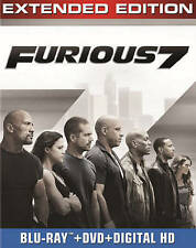Furious 7 Extended Edition (Blu-ray/DVD, 2015, w/ Digital Copy) action movie