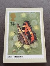 "1981 ROYAL MAIL ""BUTTERFLIES - SMALL TORTOISESHELL"" STAMP PHQ-51 POSTCARD"