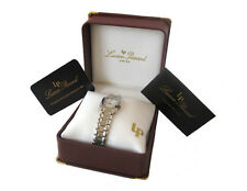 NIB Lucien Piccard 26311WH Wrist Watch for Women Silver + Gift Box
