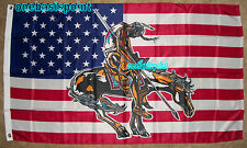 3'x5' END OF THE TRAIL FLAG AMERICAN INDIAN HORSE USA NATIVE BANNER NOVELTY 3X5