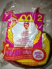 MCDONALDS' HAPPY MEAL TOY BEANIE BABY 2000 SLITHER THE SNAKE
