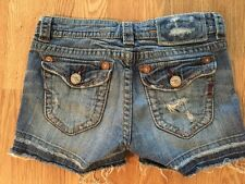 Women's MEK Curaçao Jean Shorts Sz 24 Inseam 2.5 Distressed