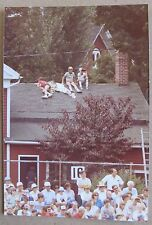 1982 Color Kodak Photo of boys watching a baseball game from rooftop, other fans