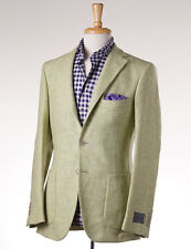 NWT $1495 BELVEST Lime Green Woven Tweed Wool Sport Coat Slim 36 R (Eu 46)