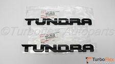 Toyota Tundra 2014-2015 TRD PRO BlackTundra Door Emblem set of 2 Genuine OEM