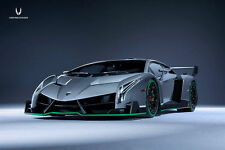 1:18 Kyosho Lamborghini Veneno gris grey with Green Line