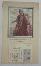WILL ROGERS TULSA OKLAHOMA WHISENHUNT FUNERAL HOME 1957 ADVERTISING CALENDAR