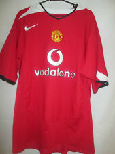 Manchester United Man Utd 2004-2006 Home Football Shirt Large  /11600