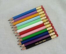 24 Assorted Personalized Golf Pencils with Erasers