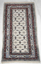Vintage Turkeman Baluch Afghan Hand Knotted Wool Chuval Gul Style Rug