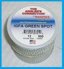 WOODSTOCK BRAIDED DACRON IGFA Fishing Line Green Spot 16lb-500yd FREE USA SHIP!