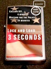 "LOCK & LOAD   POLICE  &  911   ""ZIPPO  WINDPROOF LIGHTER""  CHROME - NEW IN BOX"