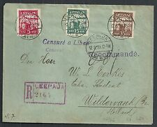Latvia covers 1919 R-cover Leerpaja to Wildervank  Cesuré a Libau