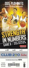 2015 GOLDEN STATE WARRIORS VS NO PELICANS PLAYOFFS GAME #2 TICKET STUB THOMPSON