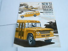 1961 DODGE TRUCK BROCHURE CATALOG - SCHOOL BUS