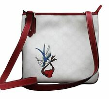 NEW Authentic GUCCI Heart Bird Tattoo Cross Body Messenger BAG HANDBAG 239347