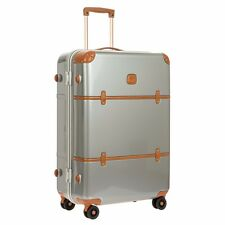 "NEW Brics SILVER Bellagio Metallo 30"" Spinner Luggage Trunk Bric's TSA Locks"