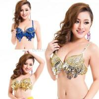 Twinkling Sequined Belly Dance Bra Top Beaded Fringe Dancing Costume Sexy B19