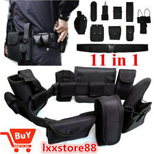 11in1 Set Tactical Police Duty Belt Training Security Guard Utility Kit +Pouch