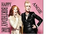 ABSOLUTELY FABULOUS AB FAB JOANNA LUMLEY PATSY  Birthday card Personalised A5