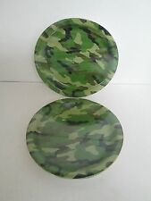 MILITARY ARMY CAMOUFLAGE DINNER PLATES 8 PK - LOT OF 2 PACKS -  PARTY SUPPLIES