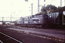 35mm Orig Slide AMTRAK GG1 #917 Harrisburg PA end of Catenary from NY & Wash W@W