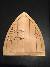 10 laser cut wooden fairy faerie elf doors, unpainted with keyhole cut out
