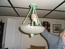 Spanish 1940/50s domed ceiling light opeque glass
