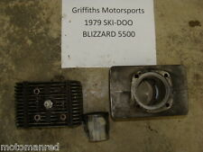 79 80 81 SKI DOO BLIZZARD 5500 500 right r cylinder head piston jug rings engine